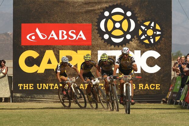 MB Cape Epic 2015 Etappe 4 Sprintfinish