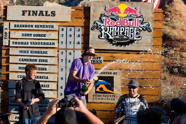 MB Red Bull Rampage Siegerpodest