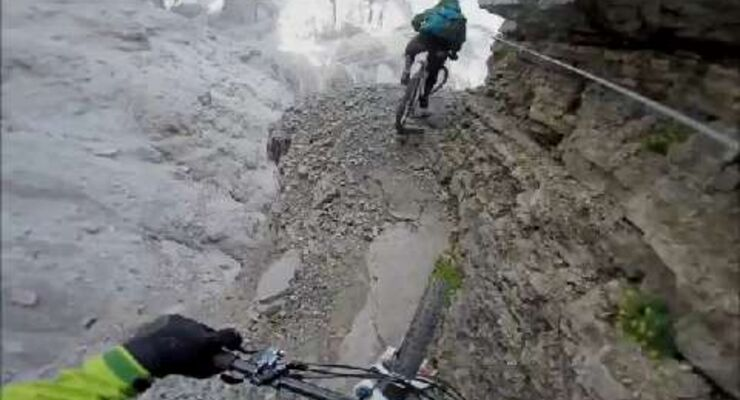 MB Video Harald Philipp - Via Ferrata on a Mountainbike - Brenta-Dolomiten
