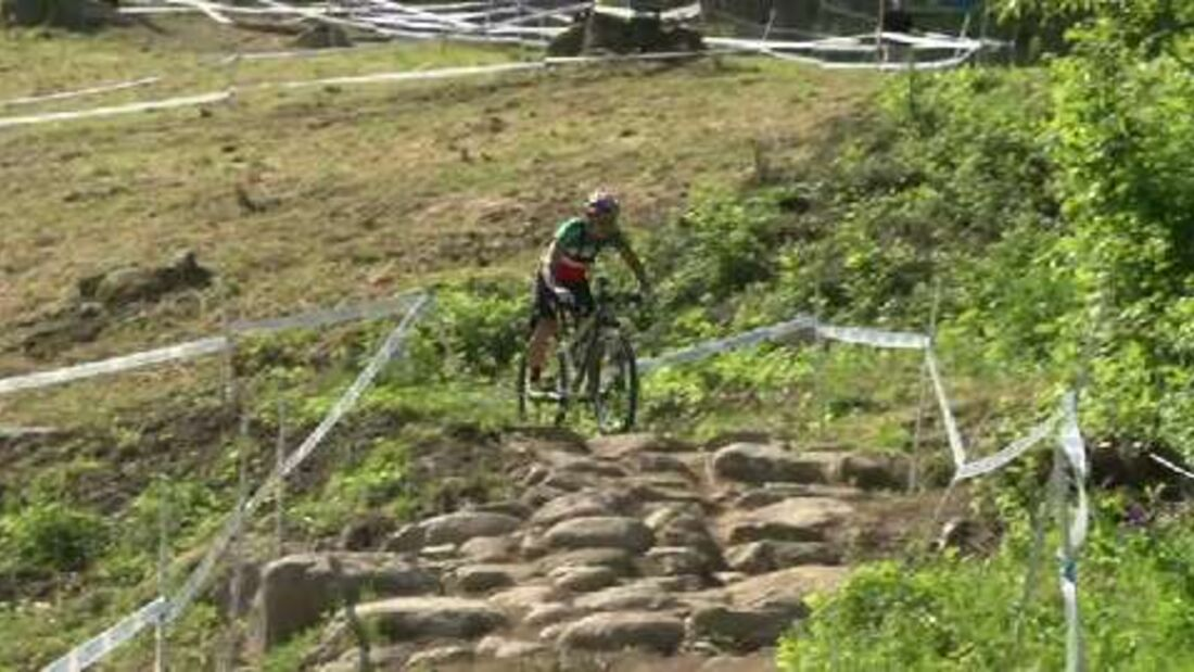 MTB-Weltcup Val di Sole: Mit Marco Fontana auf der Cross-Country-Strecke