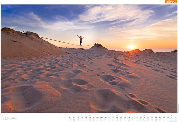 OD 2016 Kalender Best of Outdoor 2017 Februar